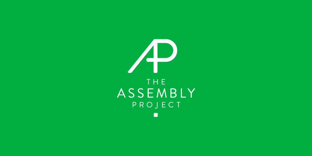Monogram and logo of Assembly Project, a collective of musicians
