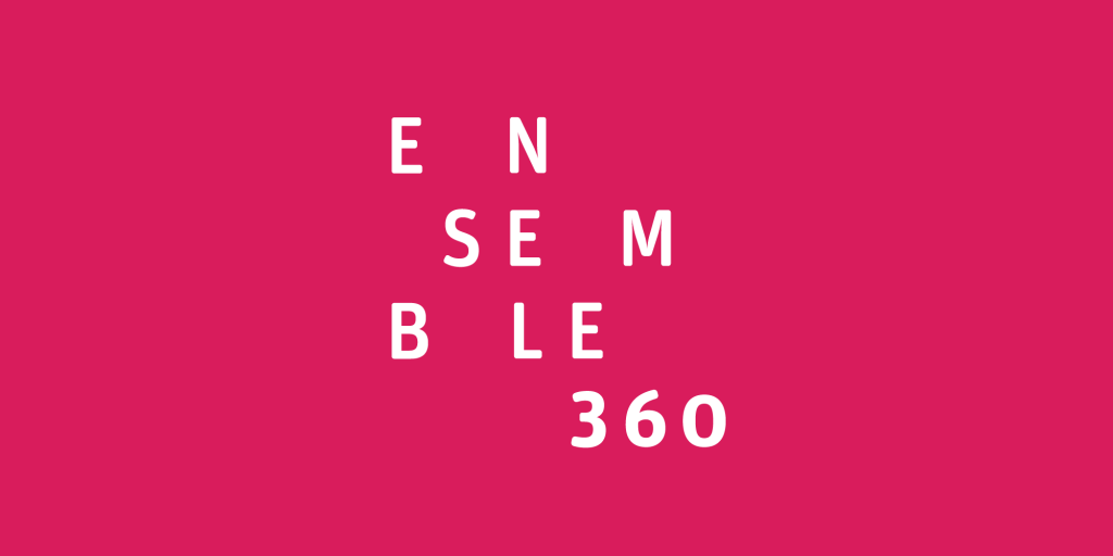 The logo for Ensemble 360, inspired by Janet Cardiff's The Forty Part Motet