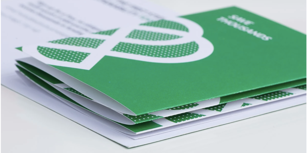Folded concertina leaflet introducing the Better Business scheme